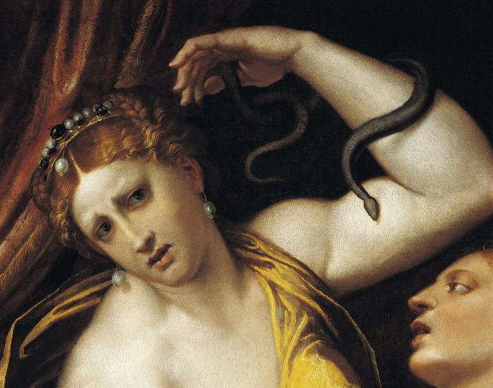 The Suicide of Cleopatra, by Domenico Riccio (1516-1567). Today, researchers doubt the Egyptian queen could have ki