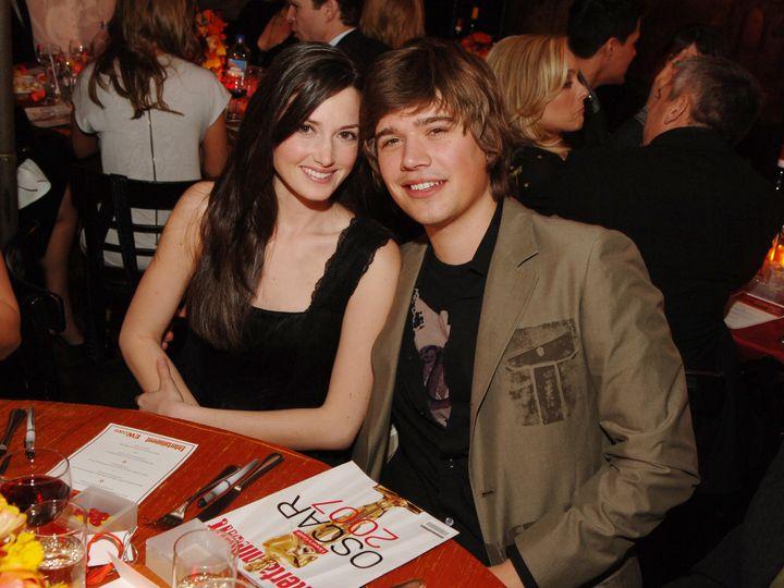 Kate and Zac Hanson, 2007.