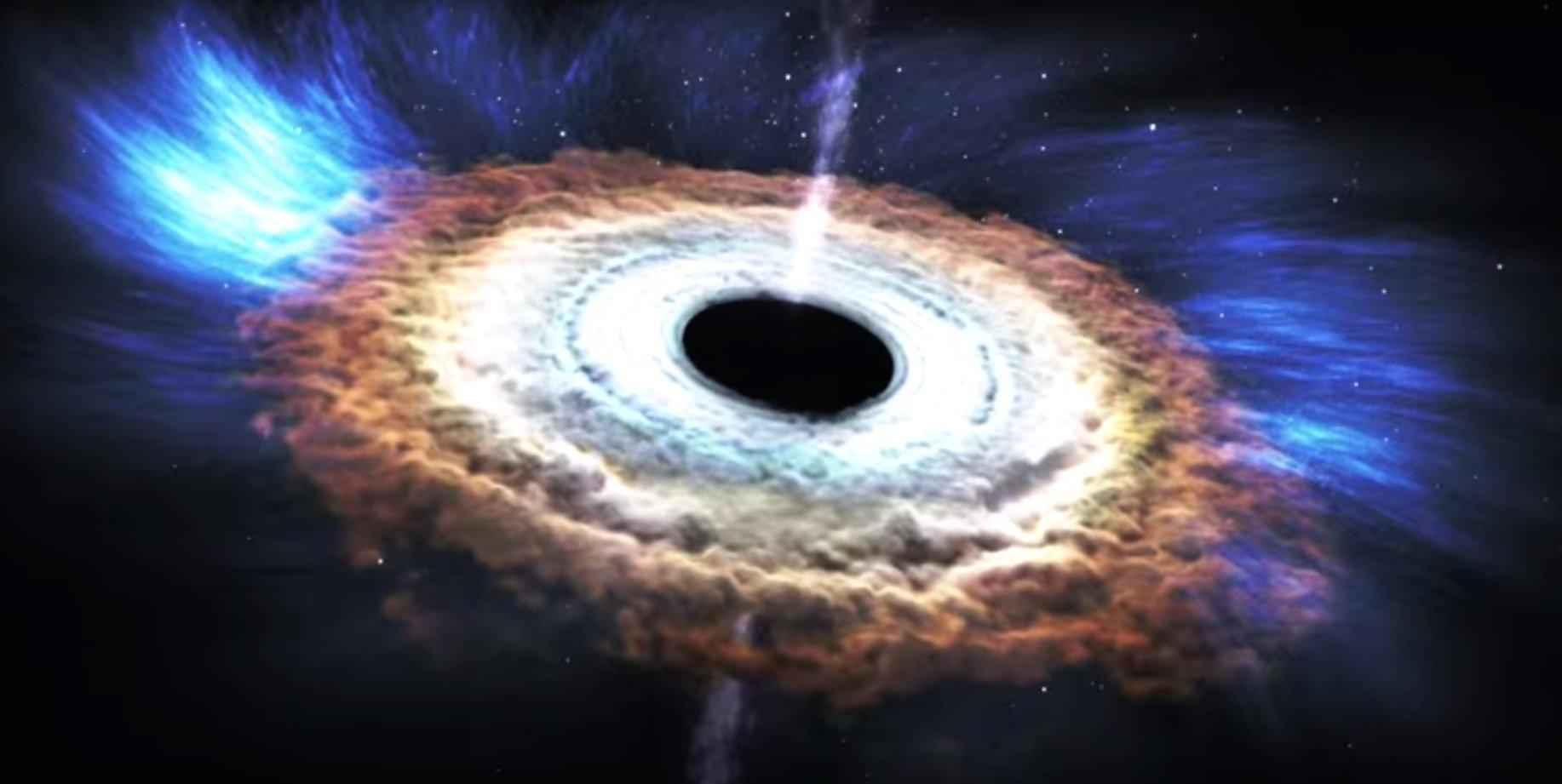 A black hole rips apart a star.