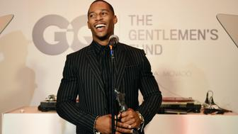 NEW YORK, NY - OCTOBER 22:  Victor Cruz speaks onstage at the GQ Gentlemen's Fund cocktail reception + awards ceremony at The Gent on October 22, 2015 in New York City.  (Photo by Nicholas Hunt/Getty Images for GQ)