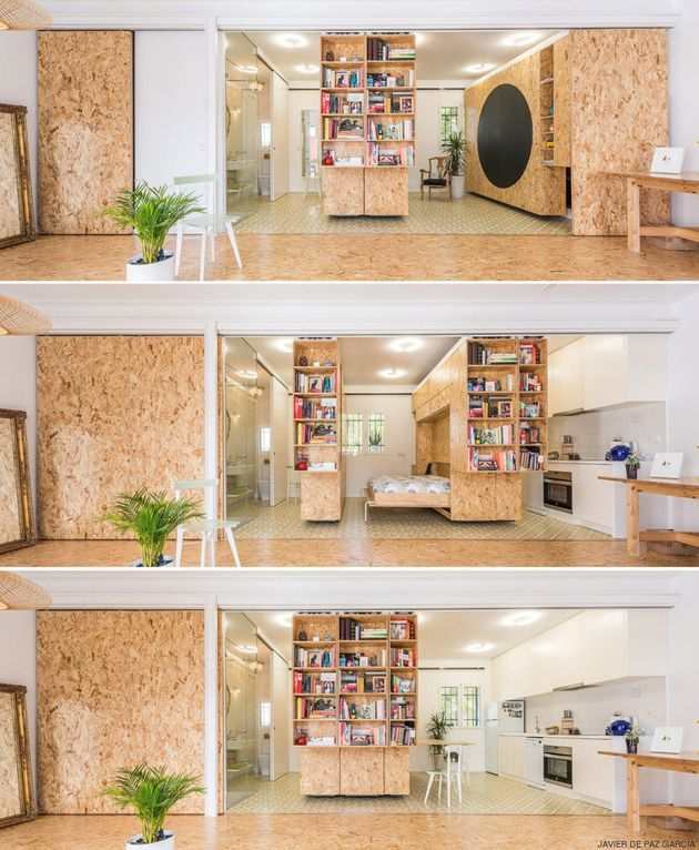 Movable walls a solution for small homes House with movable walls