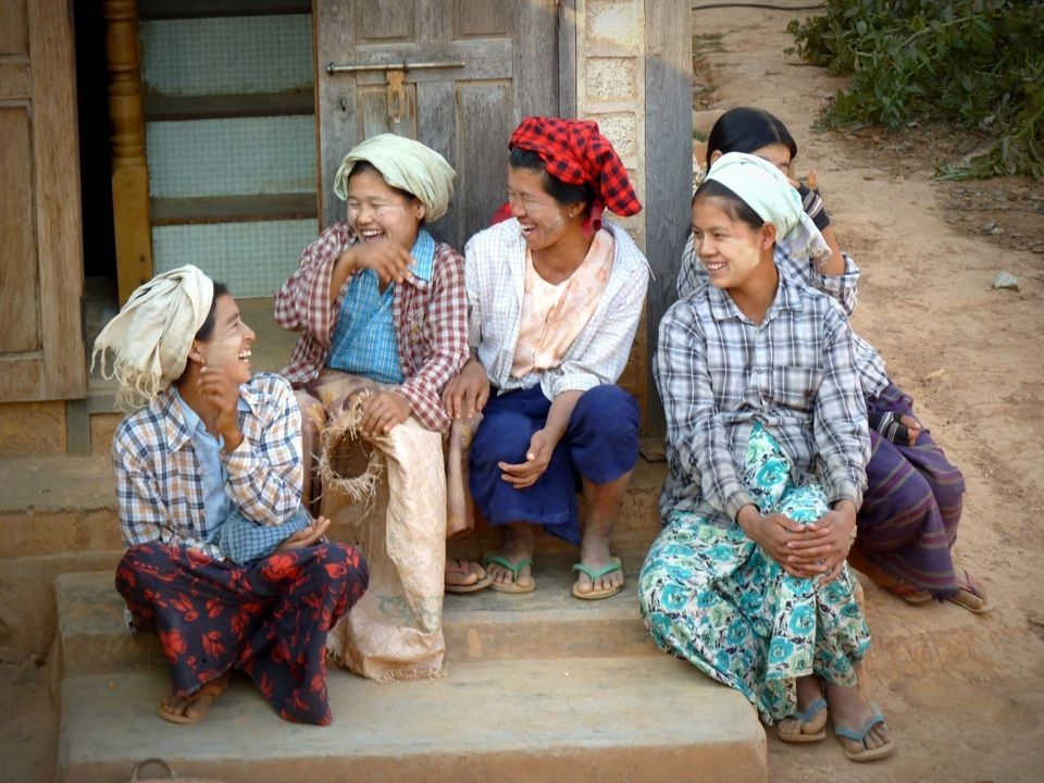 "From the photographer: ""I was so impressed when I saw these ladies in a very small and poor village near Pindaya, Myanm"