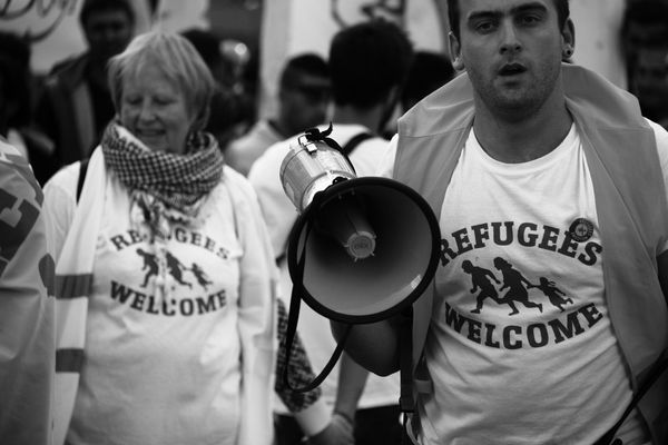 "From the photographer: ""I took this photo in a demonstration that took place in Brussels on Sept. 27. The demonstration"