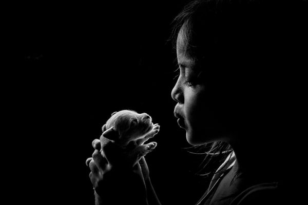 "From the photographer: ""Humans are not the only living creatures who need to be loved and cared for. Our planet is home"