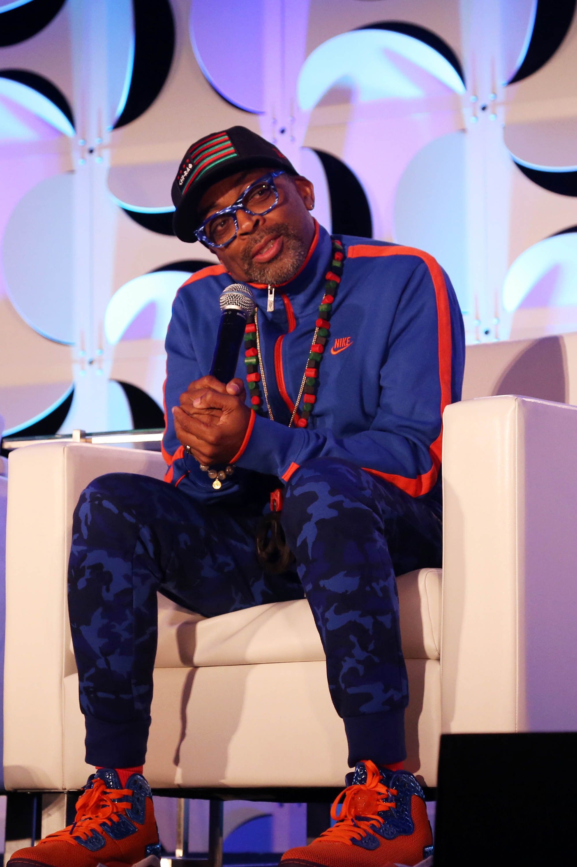 NEW YORK, NY - SEPTEMBER 30:  Filmmaker Spike Lee speaks at the 29th Annual NAMIC Conference at Marriott Marquis Times Square on September 30, 2015, in New York City.  (Photo by Johnny Nunez/WireImage)