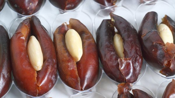 We love dates for their long shelf life (they'll last in the pantry up to a year, sealed in an airtight container), and their
