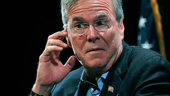 NORTH LAS VEGAS, NV - OCTOBER 21:  Republican presidential candidate Jeb Bush speaks during the LIBRE Initiative Fourm at the College of Southern Nevada on October 21, 2015 in North Las Vegas, Nevada. Bush said, if elected president he'd try to move the Interior Department's headquarters to the West, closer to the needs of the community.  (Photo by David Becker/Getty Images)