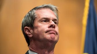 UNITED STATES - JUNE 23: Sen. David Vitter, R-La., participates in a press conference on Tuesday, June 23, 2015 to introduce a six-year highway reauthorization bill titled the Developing a Reliable and Innovative Vision for the Economy Act (DRIVE Act). (Photo By Bill Clark/CQ Roll Call)