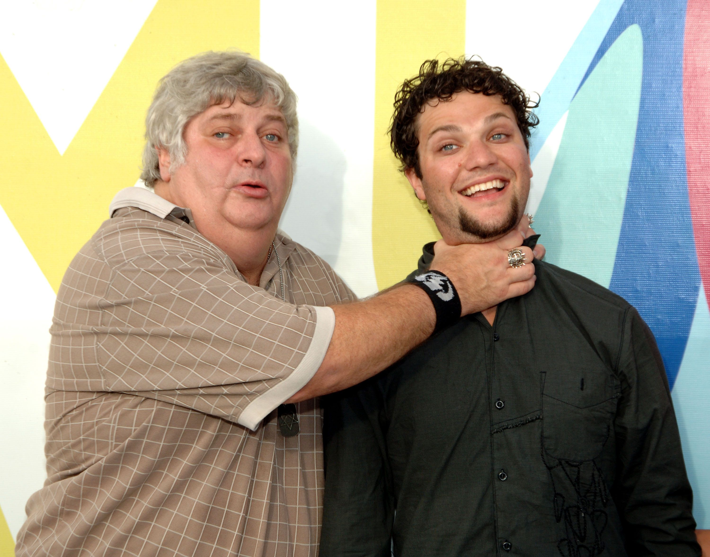 Don Vito and Bam Margera during 2005 MTV Video Music Awards - Arrivals at American Airlines Arena in Miami, Florida, United States. (Photo by Dimitrios Kambouris/WireImage)