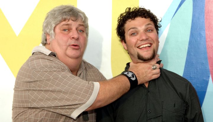 Don Vito and Bam Margera during the 2005 MTV Video Music Awards.