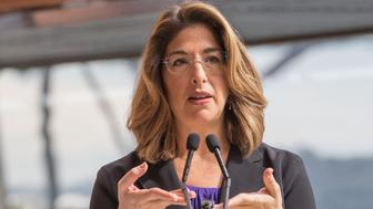 SYDNEY, AUSTRALIA - SEPTEMBER 03:  Canadian author Naomi Klein talks to the media at a press conference ahead of the seventh annual Festival of Dangerous Ideas at Sydney Opera House on September 3, 2015 in Sydney, Australia.  (Photo by Cole Bennetts/Getty Images)
