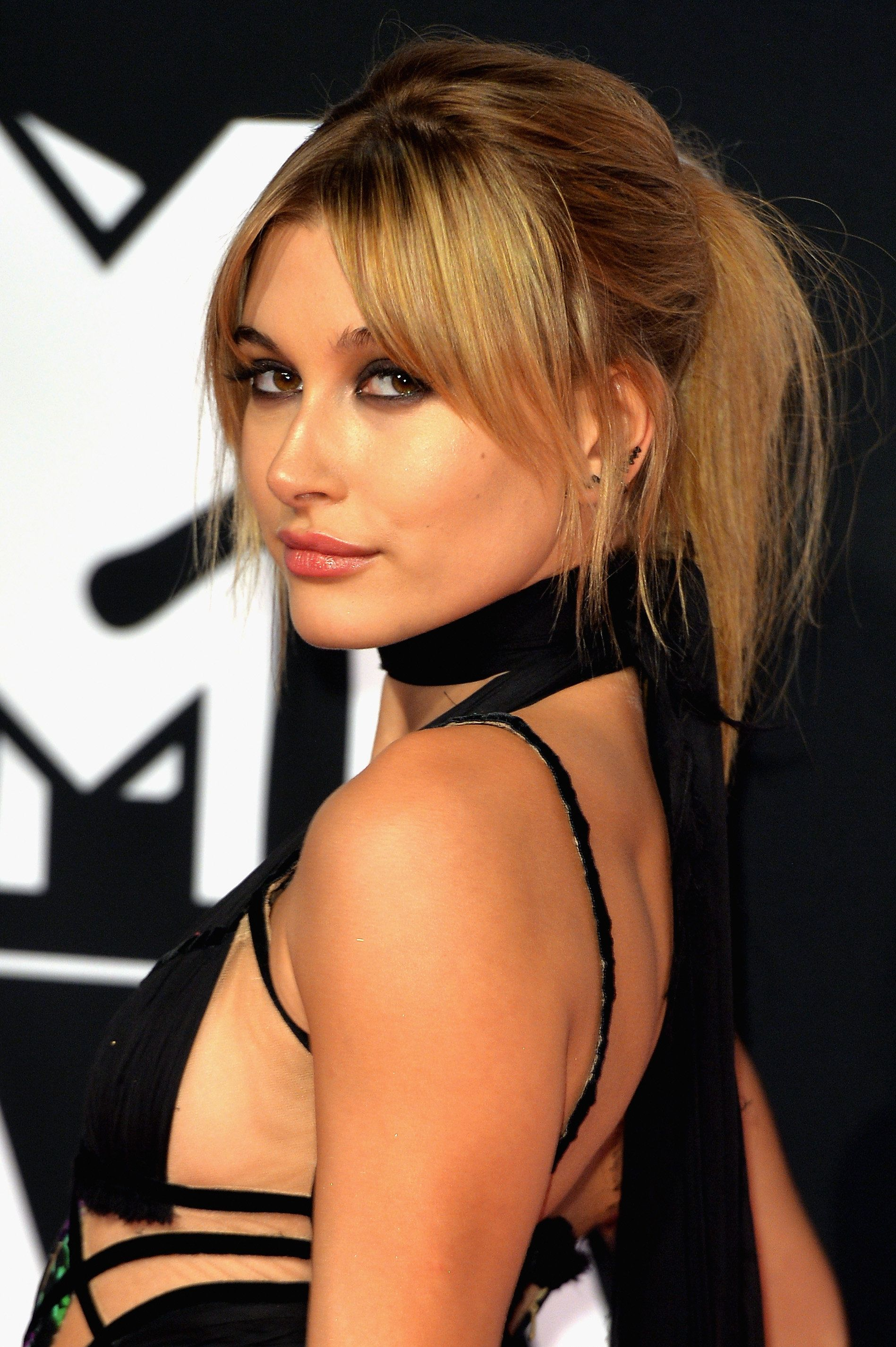 MILAN, ITALY - OCTOBER 25:  Hailey Baldwin attends the MTV EMA's 2015 at the Mediolanum Forum on October 25, 2015 in Milan, Italy.  (Photo by Anthony Harvey/Getty Images for MTV)