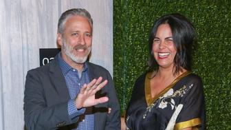 NEW YORK, NY - OCTOBER 24:  Writer/comedian Jon Stewart (L) and author Tracey Stewart attend the 2015 Farm Sanctuary Gala held at The Plaza Hotel on October 24, 2015 in New York City.  (Photo by Brent N. Clarke/FilmMagic)