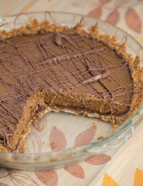 "<strong>Get the <a href=""http://www.bigflavorstinykitchen.com/2014/09/triple-chocolate-pumpkin-pie.html"">Triple-Chocolate Pum"