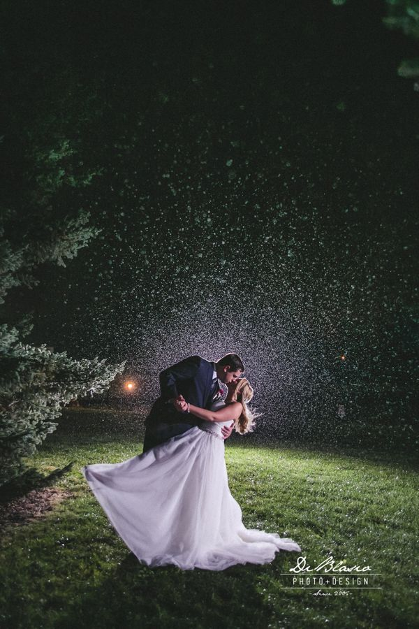 """Daring to dance in the rain, Drew and Allison Scotka tied the knot on Saturday at Little Brook Meadows in Lancaste"