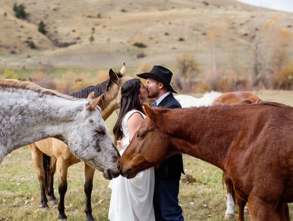 """Anna and Tom at Rocking Z Ranch in Wolf Creek, Montana."" - Tracey Buyce"