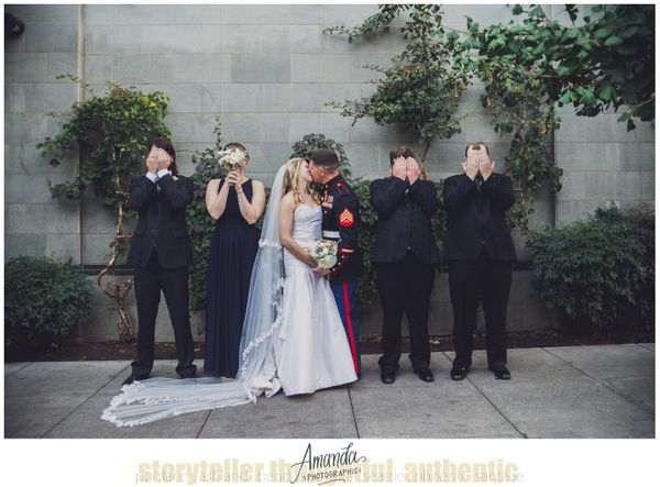 """After returning from deployment, Amy and Michael wasted no time planning their wedding. They were married at the Bridge"