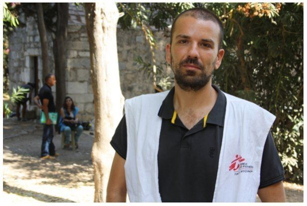 Vangelis Orfanoudakis has seen the influx of migrants and refugees grow fivefold in just three months.
