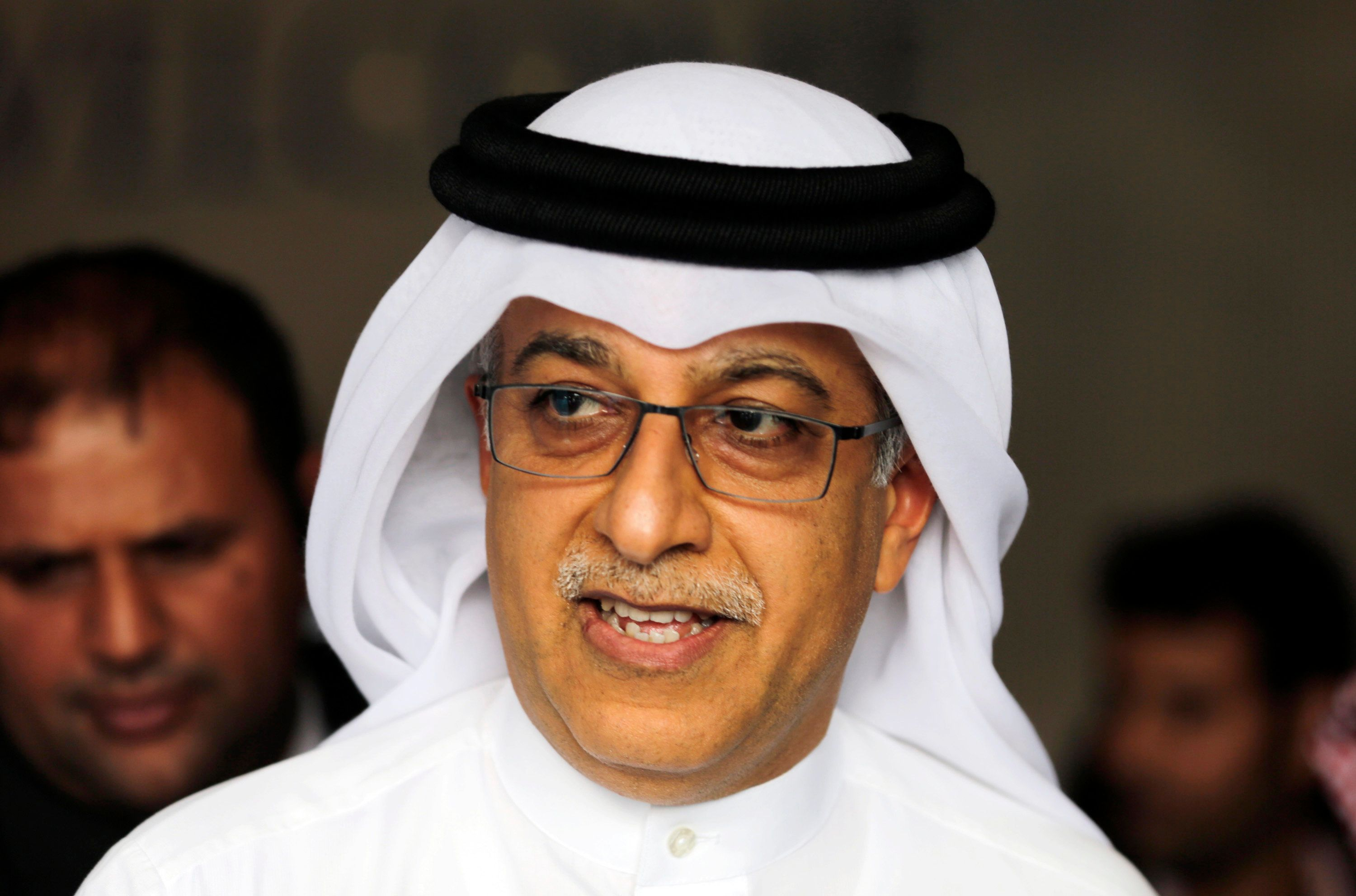 FILE - In this Thursday, April 30, 2015 file photo, Asian Football Confederation President Sheikh Salman bin Ebrahim Al Khalifa leaves the AFC Congress in Manama, Bahrain. Bahrains state news agency says Asian soccer chief Sheikh Salman bin Ebrahim Al Khalifa has formally launched his bid to replace Sepp Blatter as FIFA president. (AP Photo/Hasan Jamali, file)