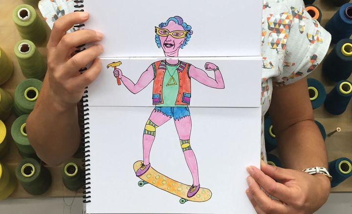 Granny skater in the wild.