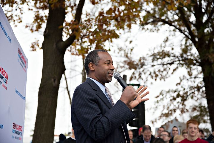 New surveys show Ben Carson, pictured, leading Donald Trump in Iowa.