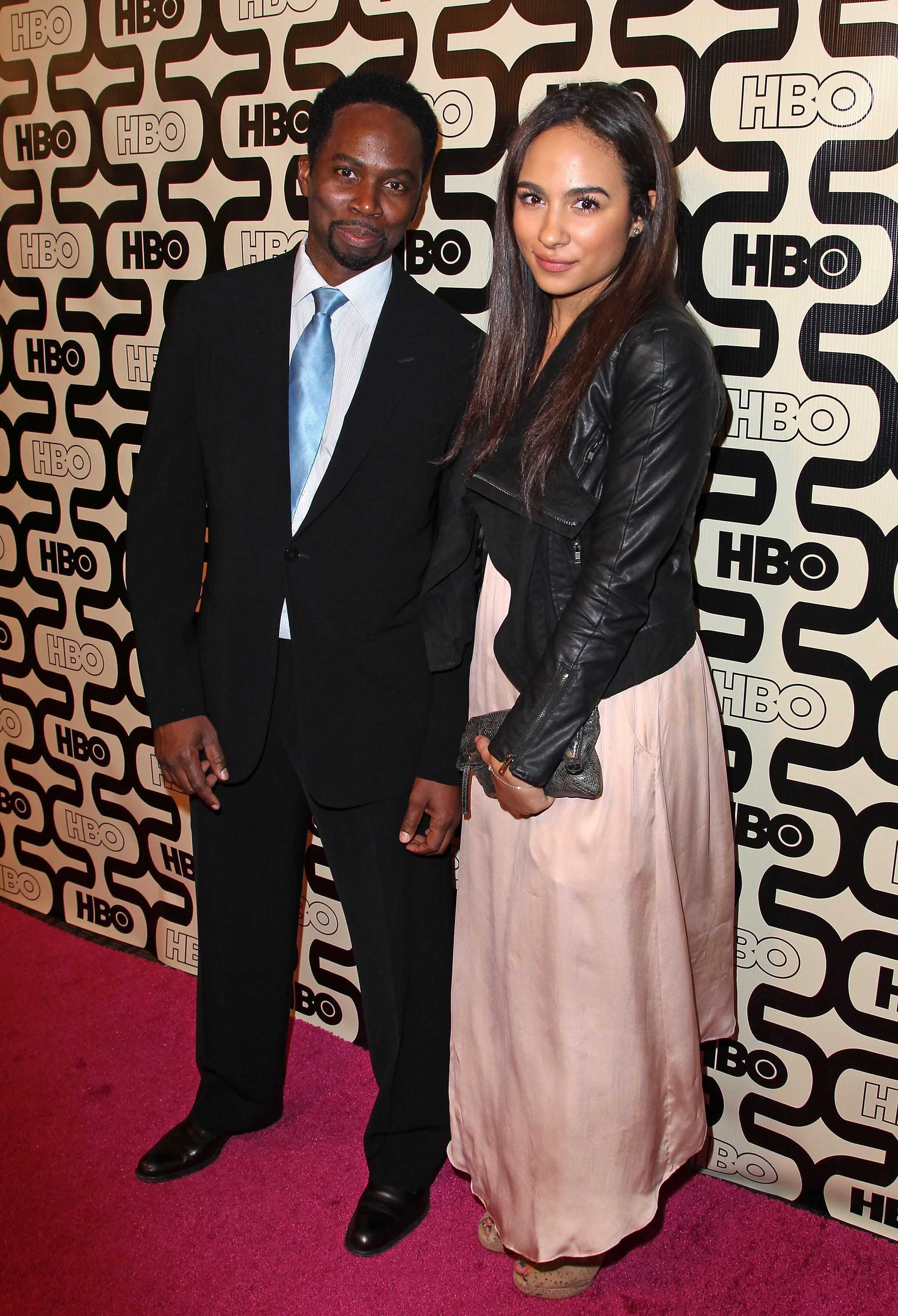 BEVERLY HILLS, CA - JANUARY 13:  Actor Harold Perrineau and daughter Aurora Perrineau attend HBO's Official Golden Globe Awards After Party held at Circa 55 Restaurant at The Beverly Hilton Hotel on January 13, 2013 in Beverly Hills, California.  (Photo by FilmMagic/FilmMagic)