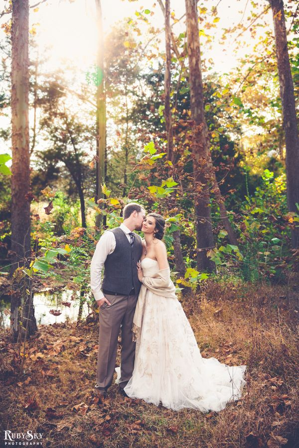 """Molly and Andrew Greene's rustic-chic wedding at Lydia Mountain Lodge in Stanardsville, Virginia."" - Kee"