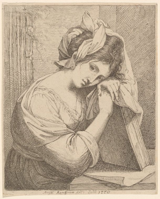 Angelica Kauffman (Swiss, 1741–1807) [Self-portrait] Etching, 1770