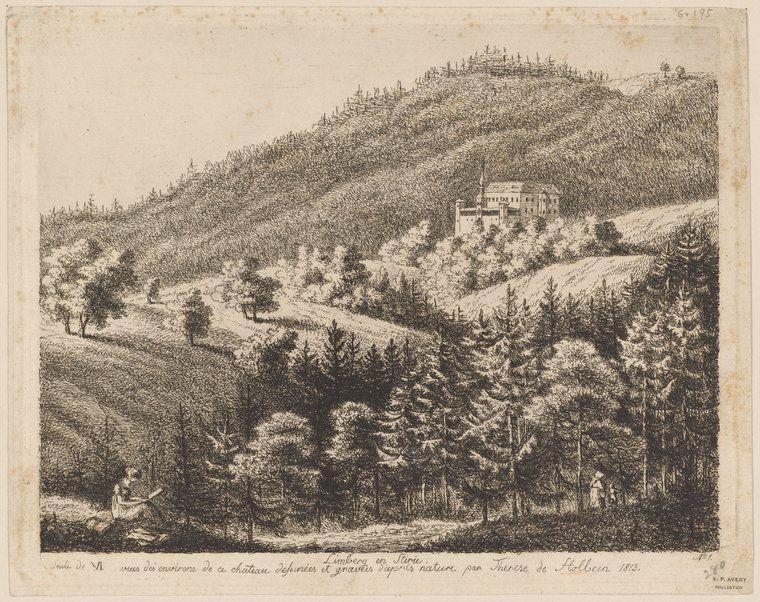 Thérèse Holbein (German, 1785–1859) Limberg in Stirie. Siute [sic] de VI vues des environs de ce chate&ac