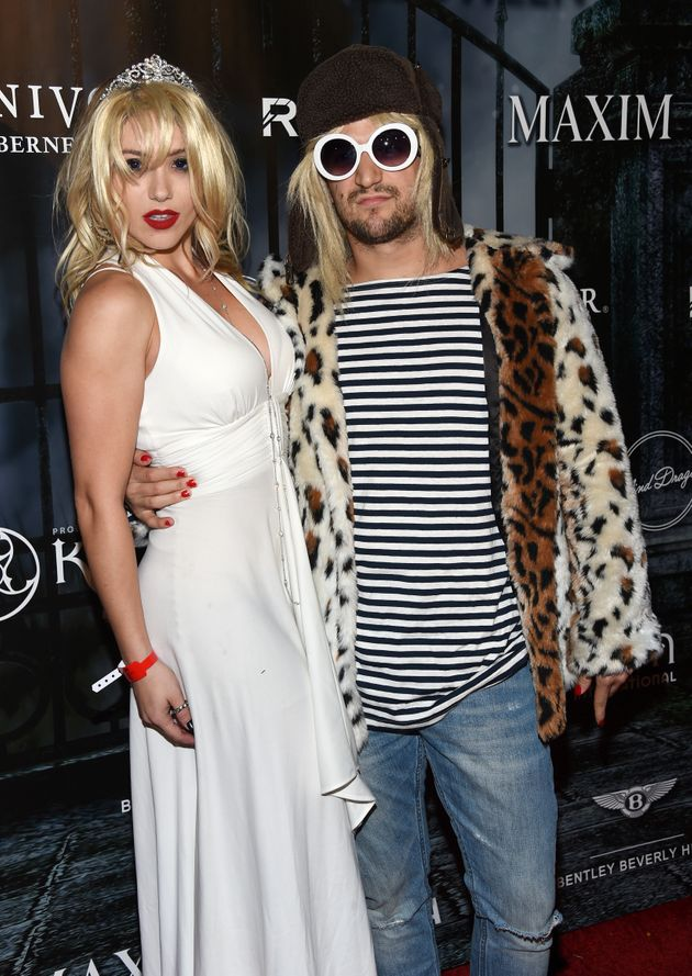 Mark Ballas And Girlfriend Dress Up As Kurt Cobain And ...