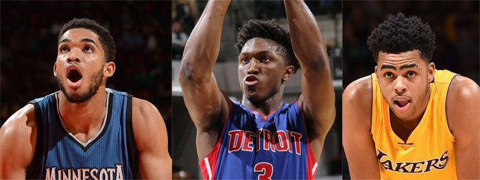 No. 1 overall pick Karl Anthony-Towns, No. 8 pick Stanley Johnson and No. 2 pick D'Angelo Russell all face lofty expectations