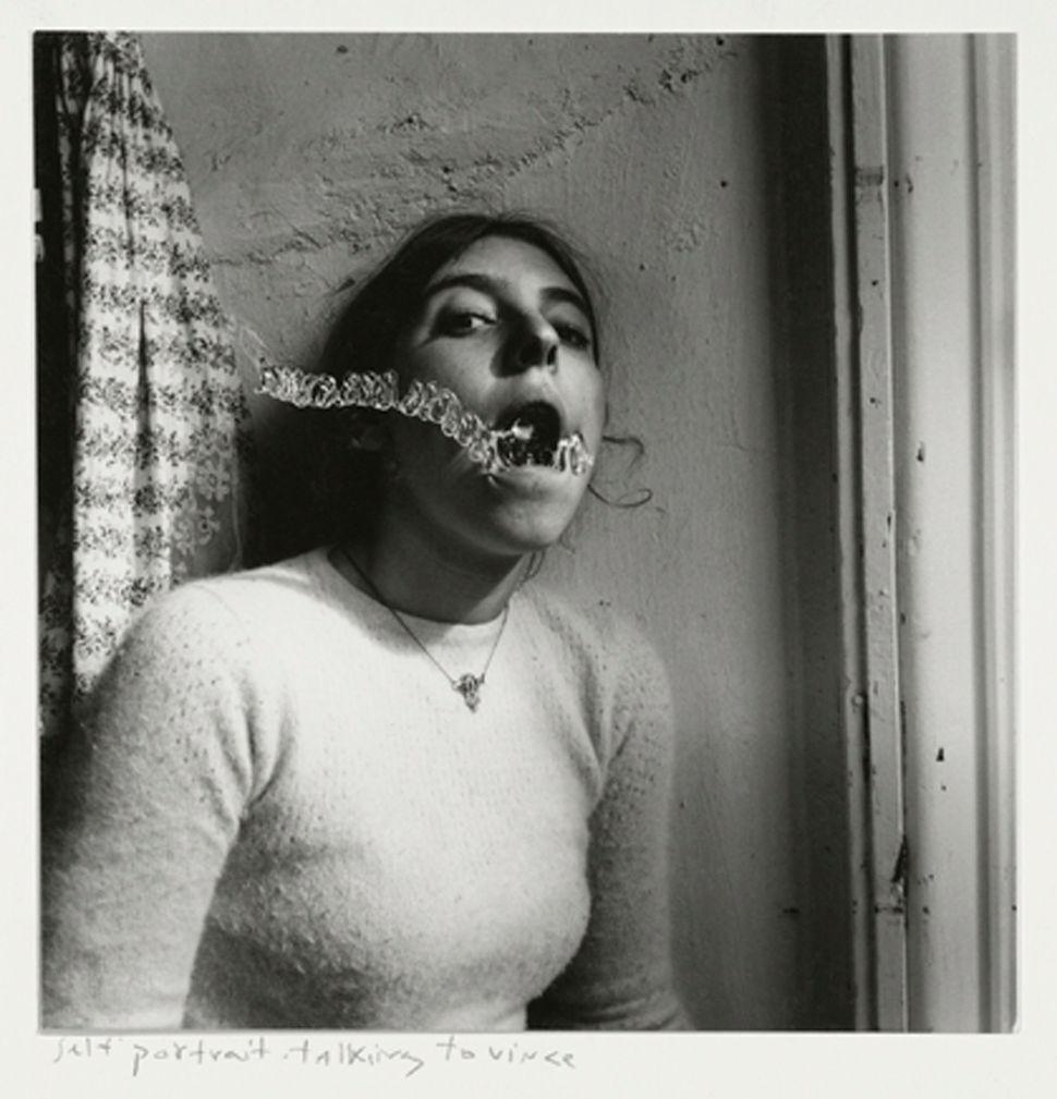 "Francesca Woodman, ""Self-portrait talking to Vince,"" Providence, Rhode Island, 1977 © George and Betty Woodman"