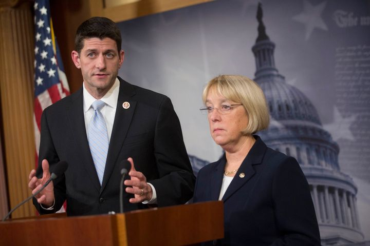 Sen. Patty Murray (D-Wash.) and Rep. Paul Ryan (R-Wisc.), who chaired their chambers' respective budget committees at the tim