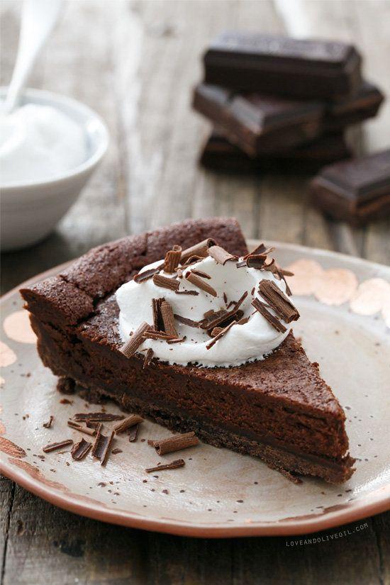 """<strong>Get the <a href=""""http://www.loveandoliveoil.com/2014/09/bittersweet-chocolate-bourbon-tart.html"""" target=""""_blank"""">Bitt"""