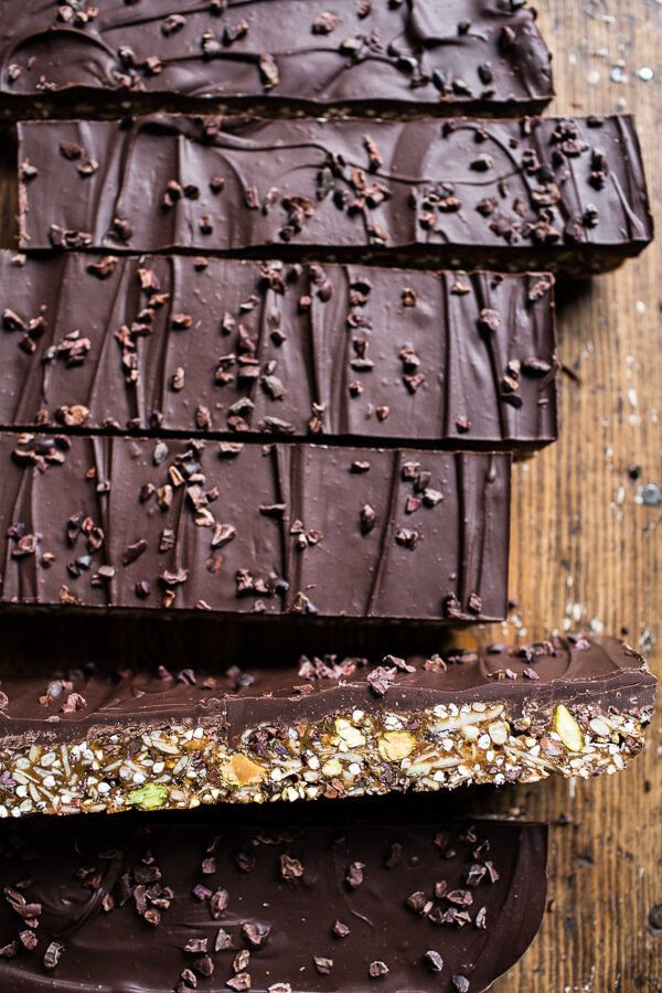 "<strong>Get the <a href=""http://www.halfbakedharvest.com/10-minute-magical-chocolate-almond-butter-superfood-seed-bars/"" targ"