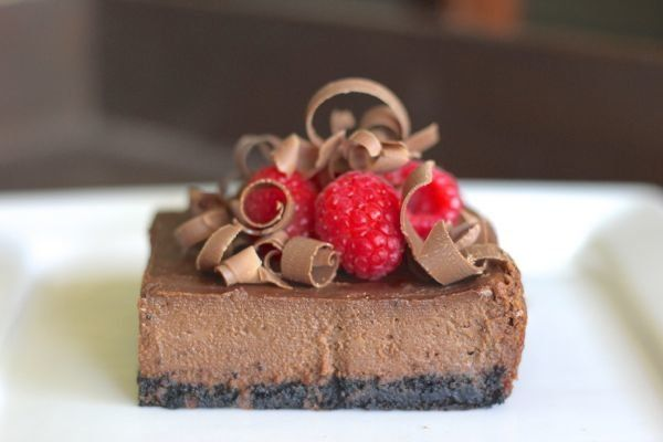 "<strong>Get the <a href=""http://lovelylittlekitchen.com/chocolate-cheesecake-raspberries/"" target=""_blank"">Chocolate Cheeseca"