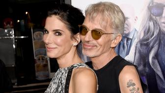 HOLLYWOOD, CA - OCTOBER 26:  Actress/producer Sandra Bullock (L) and actor Billy Bob Thornton attend the premiere of Warner Bros. Pictures' 'Our Brand Is Crisis' at TCL Chinese Theatre on October 26, 2015 in Hollywood, California.  (Photo by Kevin Winter/Getty Images)