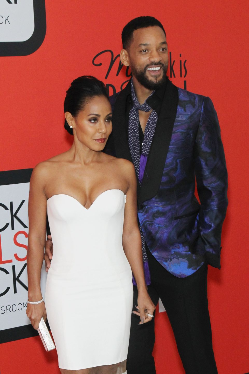 NEWARK, NJ - MARCH 28:  Jada Pinkett Smith (L) and Will Smith attend the BET's 'Black Girls Rock!' Red Carpet sponsored by Ch