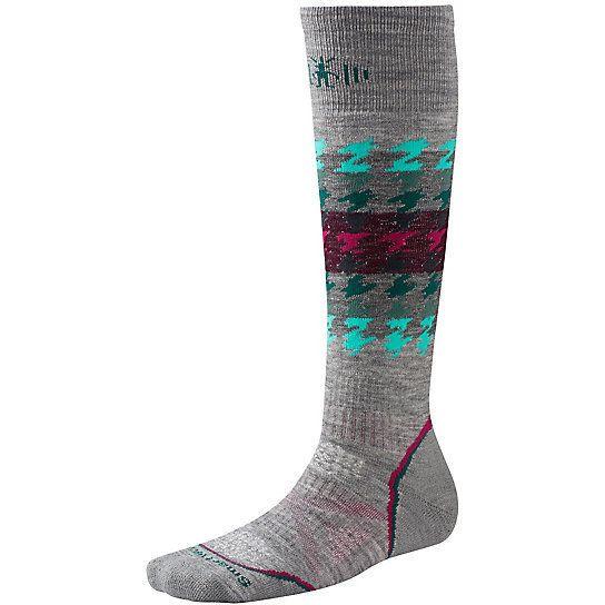 "<i><a href=""http://www.smartwool.com/shop/women-socks-snowboard"" target=""_blank"">Smartwool PhD Snowboard Medium Socks</a></i>"