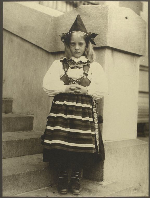 <i>A girl from Rattvik, province of Dalarna, Sweden</i>