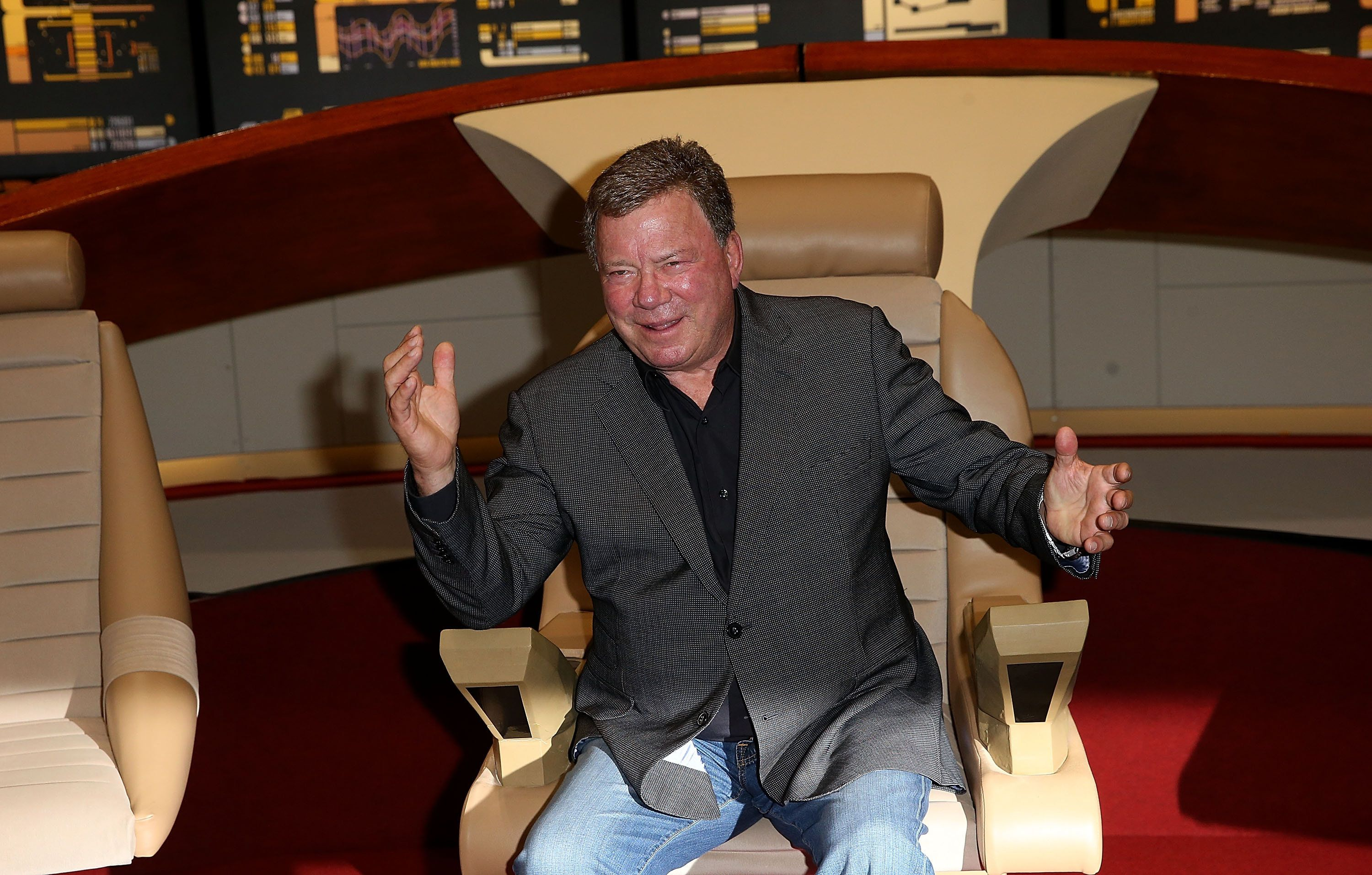 LONDON, ENGLAND - OCTOBER 03:  William Shatner attends the Destination Star Trek event at ExCel on October 3, 2014 in London, England.  (Photo by Danny Martindale/WireImage)