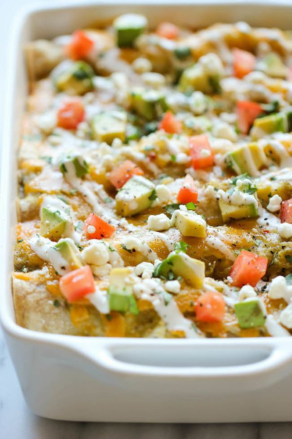 """<strong>Get the <a href=""""http://damndelicious.net/2014/02/05/sweet-potato-enchiladas/"""">Sweet Potato Enchiladas recipe</a>&nbs"""
