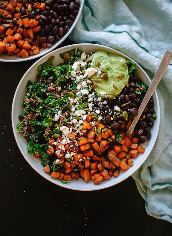 """<strong>Get the <a href=""""http://cookieandkate.com/2015/southwestern-kale-power-salad/"""">Southwestern Kale Power Salad with Swe"""