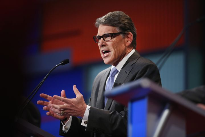 Former Texas Gov. Rick Perry (R) just barely didn't make the cut for the main stage in the first Republican debate in August.