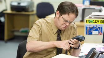 THE OFFICE -- 'Customer Survey' Episode 6 -- Pictured: Rainn Wilson as Dwight Schrute  (Photo by Paul Drinkwater/NBC/NBCU Photo Bank via Getty Images)