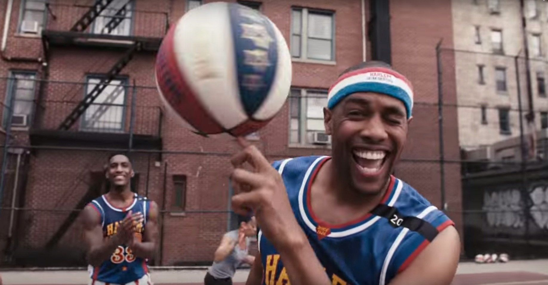 The Harlem Globetrotters team up with 'Stomp'