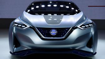The Nissan Motor Co. IDS electric hatchback concept vehicle stands on display at the Tokyo Motor Show in Tokyo, Japan, on Wednesday, Oct. 28, 2015. Toyota Motor Corp., Honda Motor Co. and Nissan Motor Co. are among automakers displaying new fuel-cell and electric vehicles at this year's Tokyo Motor Show, which runs through Nov. 8. Photographer: Akio Kon/Bloomberg via Getty Images