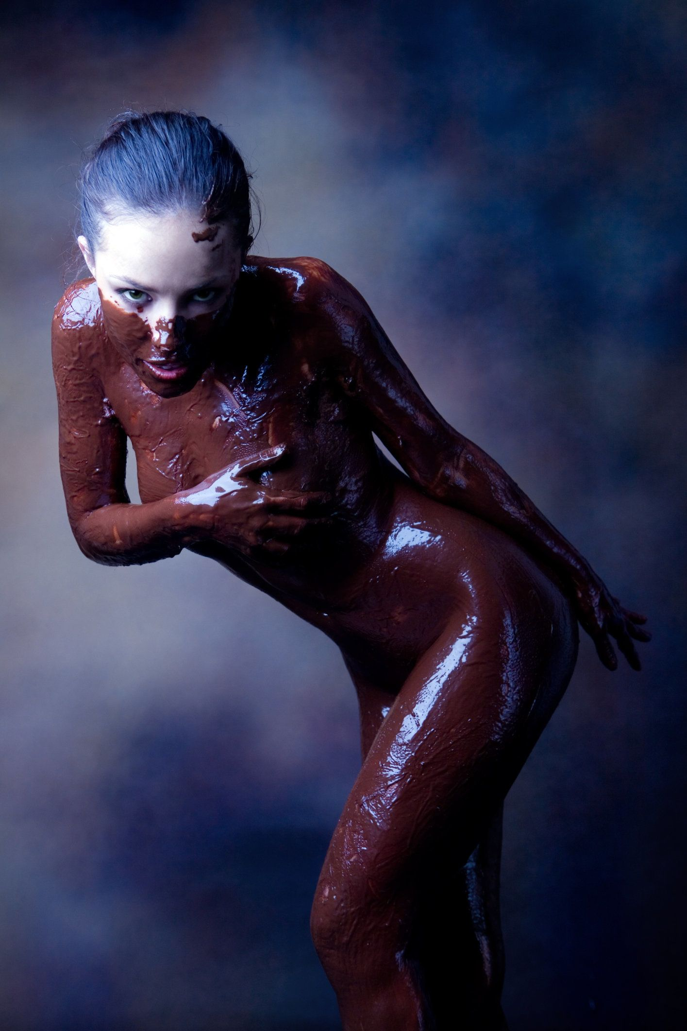 Covered girls chocolate