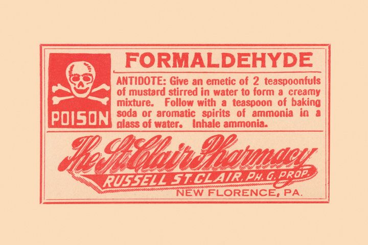 Formaldehyde used during the embalming process poses a threat to funeral home workers and the environment.