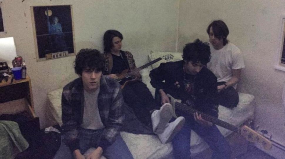 The band, Public Access TV, in lead singer John Eatherly's bedroom.